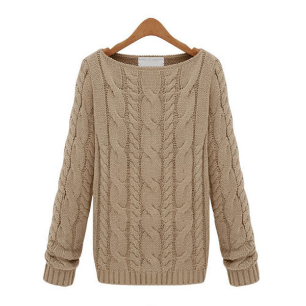sweater solid color boat neck