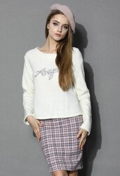 top,chicwish,diamond embellished white top,fashion and chic