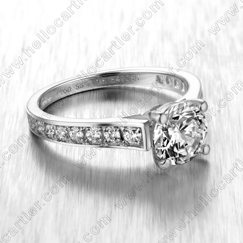 Replica Cartier Diamond Engagement Ring, Cartier White Gold Engagement Ring White Gold