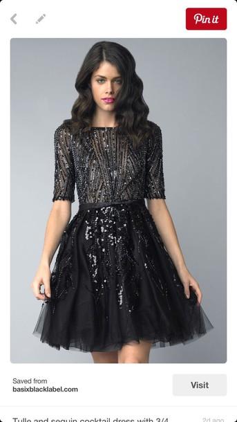 Dress The Great Gatsby Homecoming Dress Black Dress Short Black