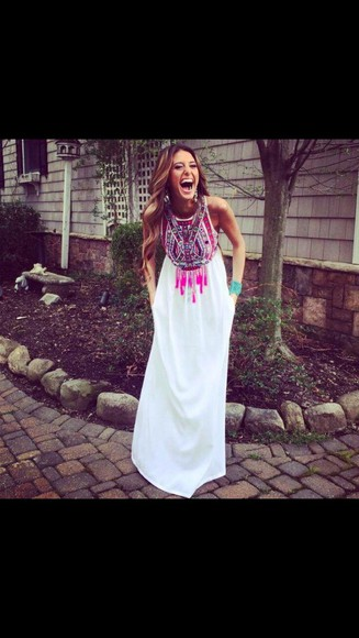 multicolor maxi maxi dress