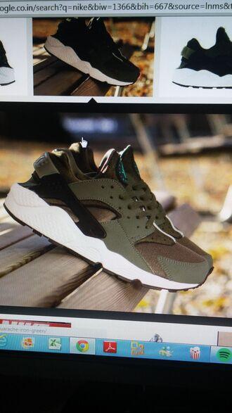 shoes army green iron green nike hurraches nike fashion