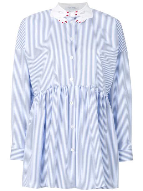 VIVETTA shirt striped shirt women cotton blue top