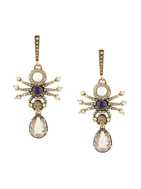 Alexander Mcqueen women earrings grey metallic jewels
