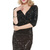 Black Sequin Wrapped V Neck Bodycon Party Dress