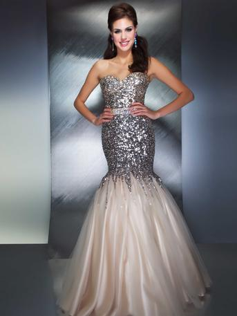 Prom Dresses 2014 -  Mac Duggal Prom 85142M  Sequined Mermaid