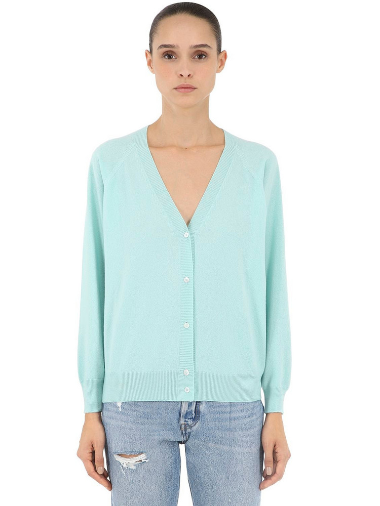 LUISA VIA ROMA Cashmere Knit Cardigan in green