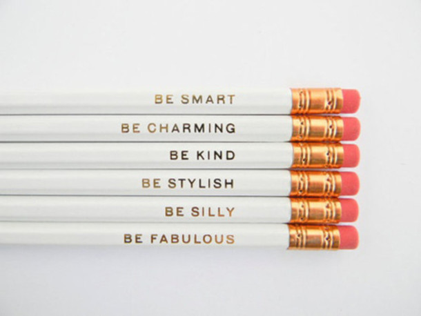 pencils classy wishlist new years resolution desk office supplies stationary jewels cute back to school home accessory