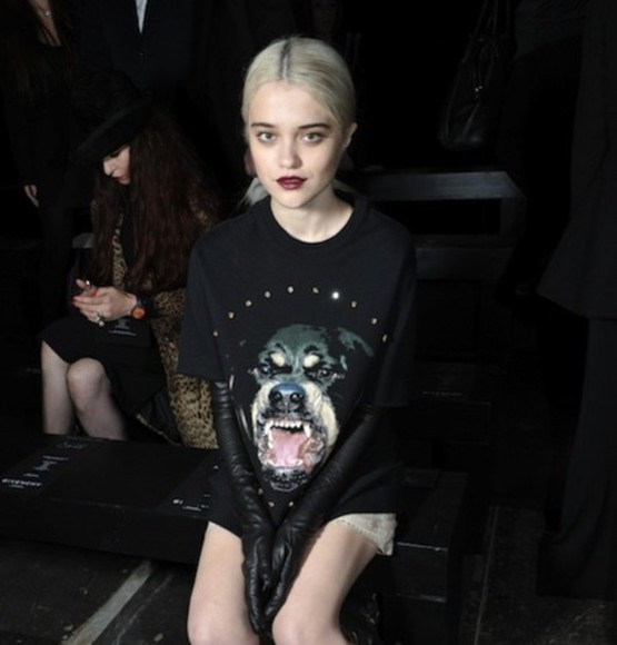 dog white black shirt shorts skirt sky ferreira gloves leather long