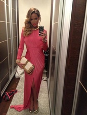 dress,cheryl cole style,maxi dress,pink dress
