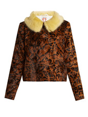 jacket,fur jacket,cropped,fur,print