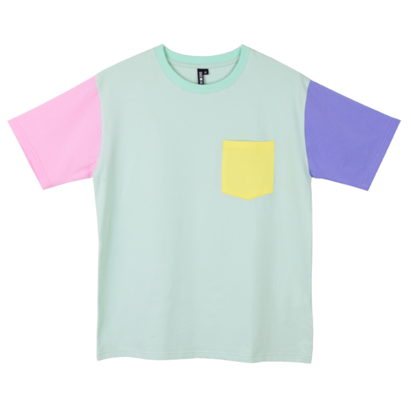 Pastel color block shirt for Pastel colored men s t shirts