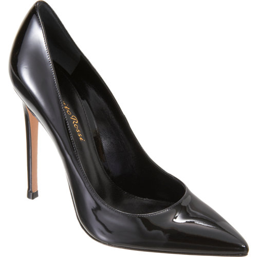 Gianvito rossi patent pointed toe pump at barneys.com