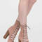Bootie-ful chunky lace-up heels dustypink charcoal mauve beige black tan olive wine - gojane.com