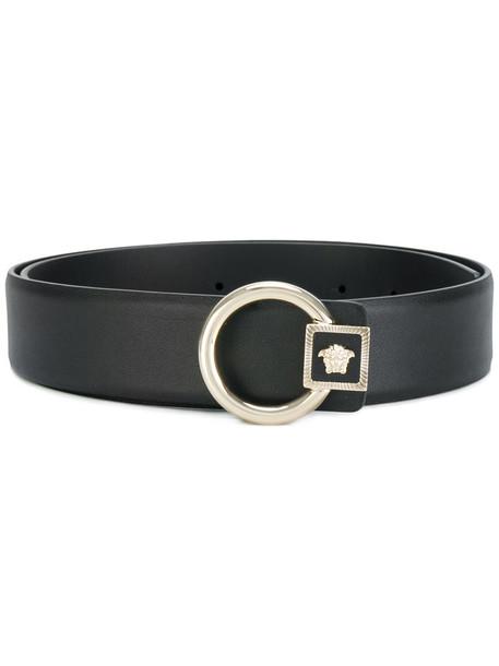 VERSACE women belt leather black