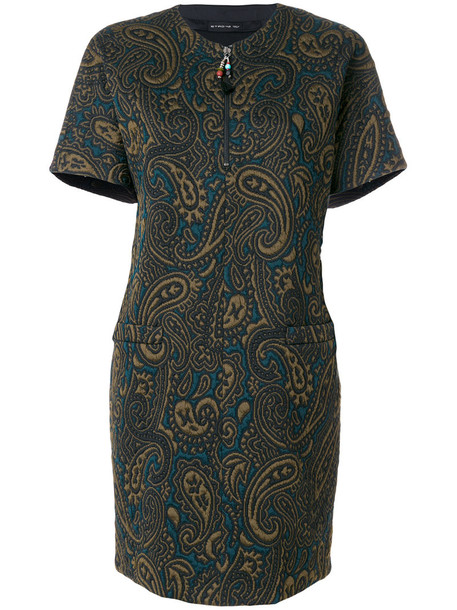 ETRO dress shift dress women spandex green paisley