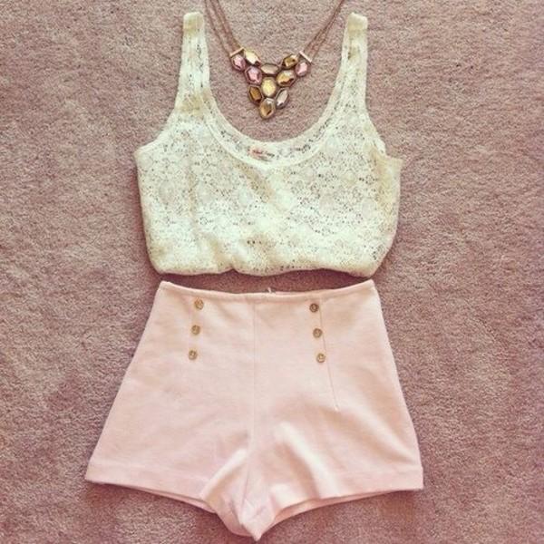 tank top shorts jewels
