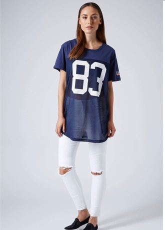 top oversized mesh top mesh american apparel topshop jersey football tshirt cute dope wishist