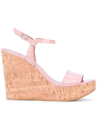 women sandals wedge sandals leather purple pink shoes