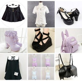 dress goth bat halloween cross blouse lolita celestial jfashion bunny boots skirt ribbon kawaii hipster fashion women grunge urban girly fall outfits lace velvet