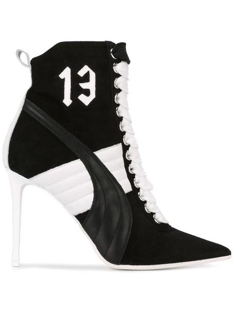 puma heel high heel high women sneakers leather black shoes