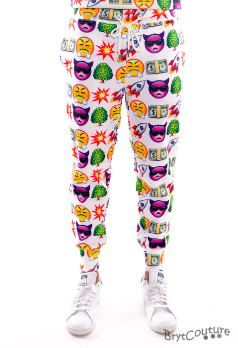Fleece emoji joggers sweatpant