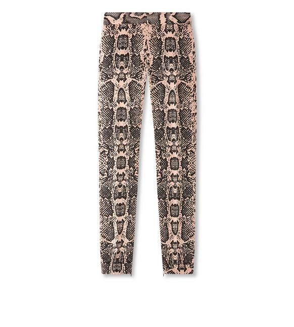 SNAKE PRINTED TAILORED PANTS