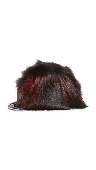mini fur love blood bag mini bag