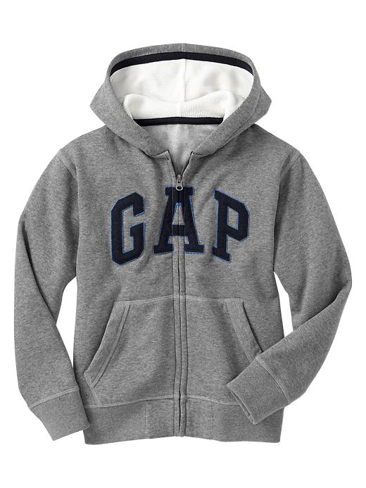 gap arch logo zip hoodie - heather grey b30