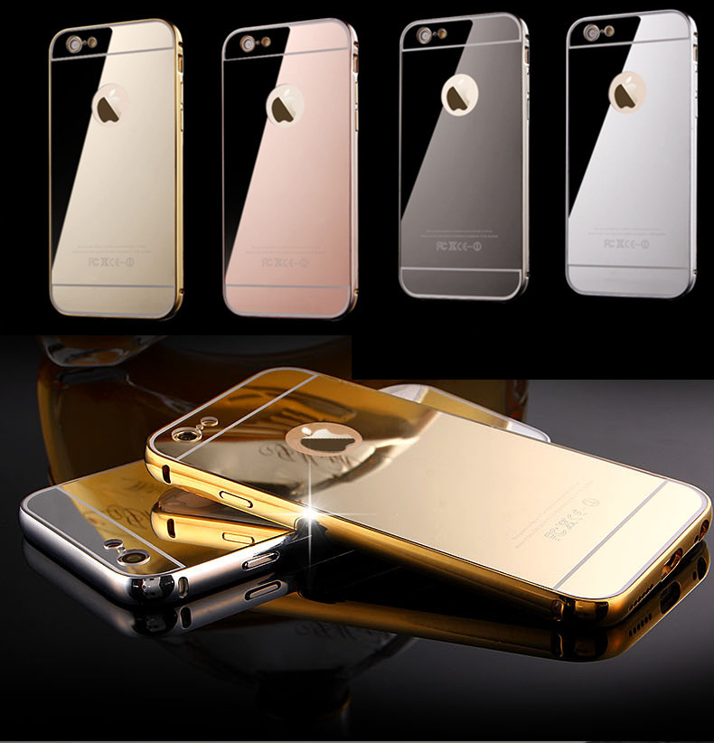 pretty nice 06fd7 05167 For Iphone6 Case,24K Gold Plating Case For Iphone 6/6plus Luxury Metal  Button Mirror Back Cover For Iphone 6 4.7 inch Rosegold-in Phone Bags &  Cases ...
