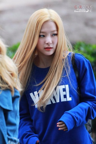 sweater marvel kpop kpop star kpop fasion fashion korean asain jumper