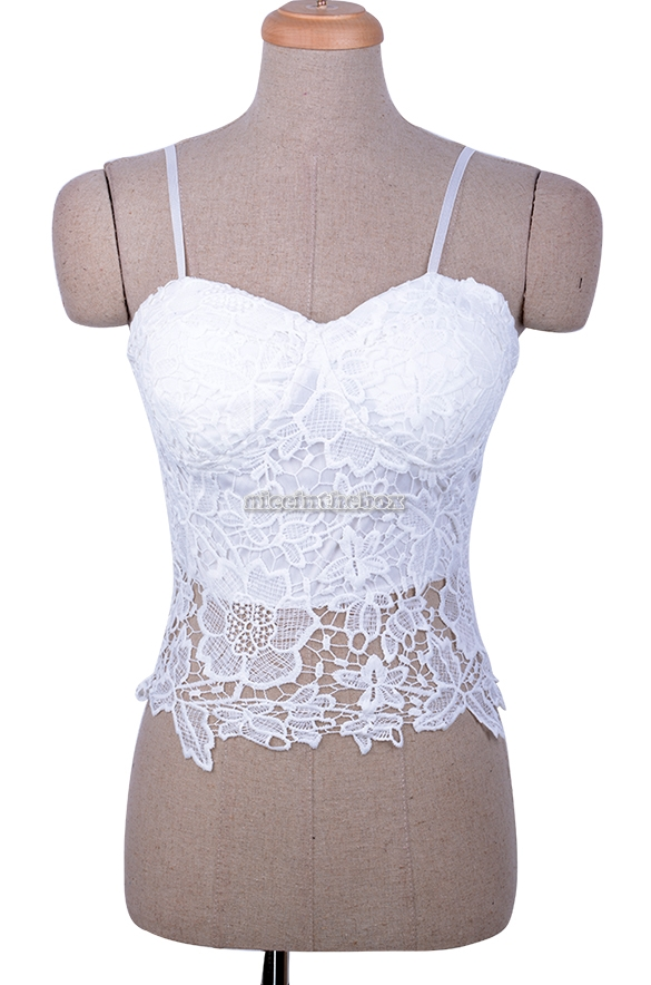Sexy Floral Lace Bustier Corset Bra Bralette Strapless Bodycon Cami Crop Top | eBay