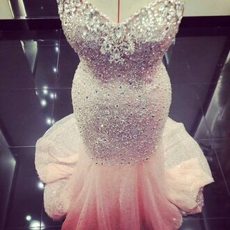 dress glitter dress diamonds pink dress elegant evening dress beautiful