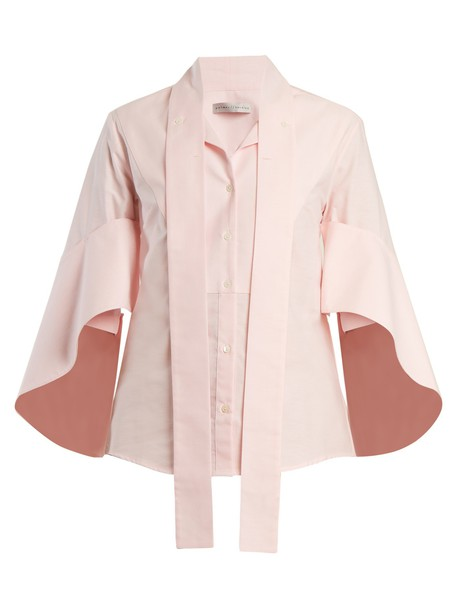 PALMER/HARDING shirt cotton light pink light pink top