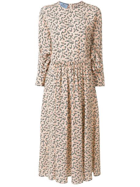 Prada dress midi dress women midi nude silk