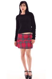 skirt,tartan skirt,sweater