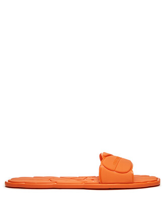 pool orange shoes