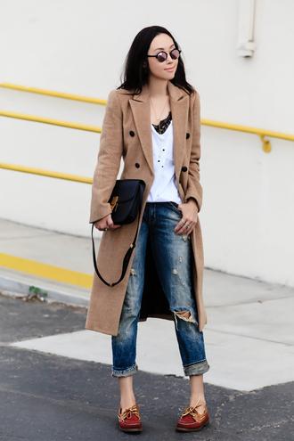 fit fab fun mom blogger coat jeans shoes bag sunglasses jewels