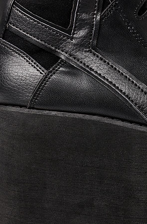 Y.R.U. Shoe Qozmo Sky-Hi in Black -  Karmaloop.com
