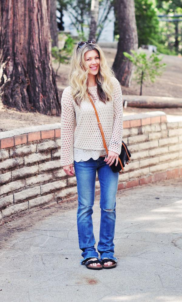 love maegan tank top jeans shoes sunglasses bag