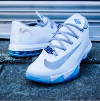 shoes kds blue and white iceys kevin durant basketball shoes icy blue white light blue kevindurant sneakers nike