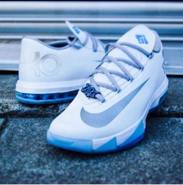 shoes kds blue and white iceys kds kevin durant