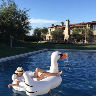 home accessory swan pool accessory pool summer holidays