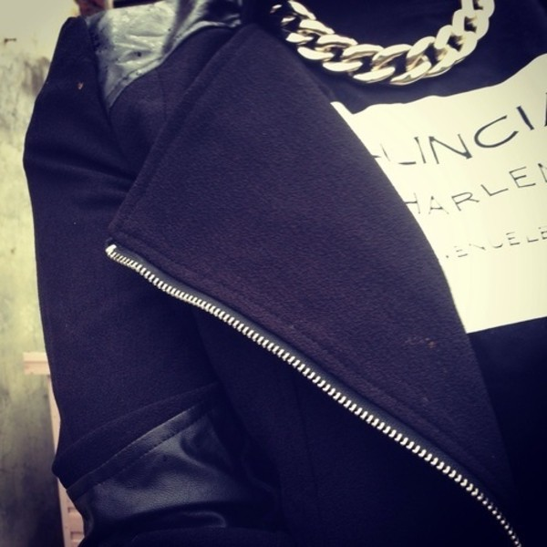 jacket black sweater make-up