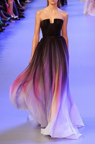 purple dress bleached famous red carpet amazing ball dress gown blue dress