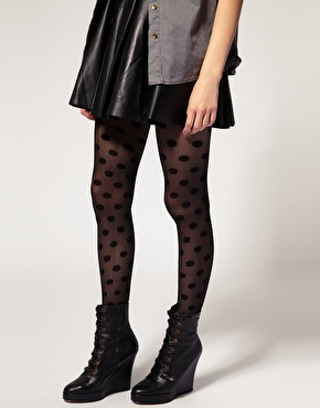Collants ã  pois chez asos