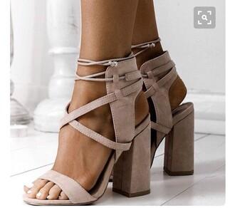 shoes rose pink heels block heel wrap tie around ankle strappy heels block heel sandals