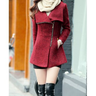 coat rose wholesale red zip winter coat vintage cute dress winter outfits winter jacket casual