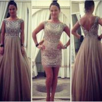 dress prom dress long dress long prom dress beaded beige dress tulle dress short sleeve cap sleeves dresses high neck short dress homecoming dress low back dress