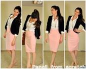 skirt,light pink,pink,pencil skirt